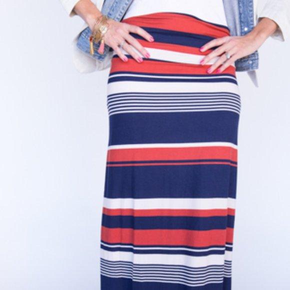 Agnes & Dora Dresses & Skirts - Vintage Agnes & Dora Maxi Skirt, Striped